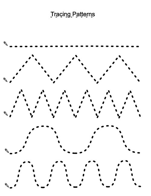 Patterns Preschool Tracing Worksheets » Printable Coloring Pages