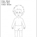 Worksheets On Body Parts For Kindergarten
