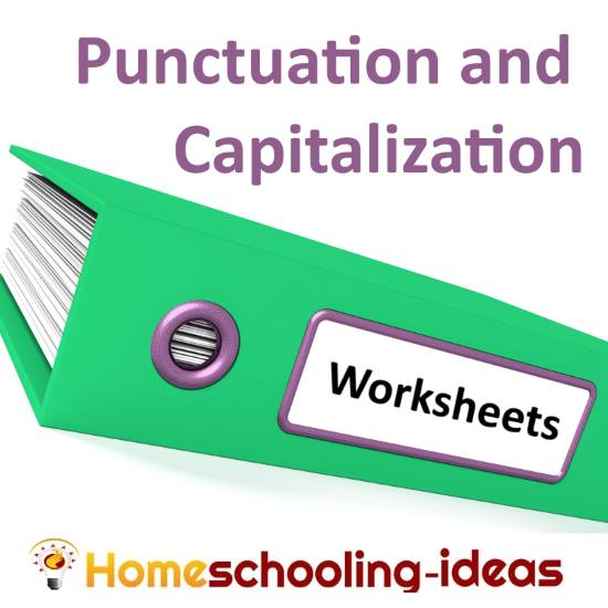 Capitalization And Punctuation Worksheets