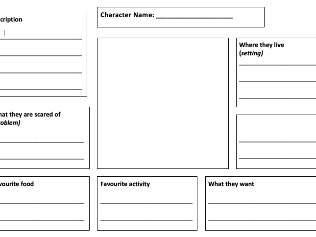 Character Development Worksheet By Cefields