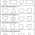 Shapes For Kindergarten Worksheets
