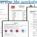 Supersize Me Worksheets