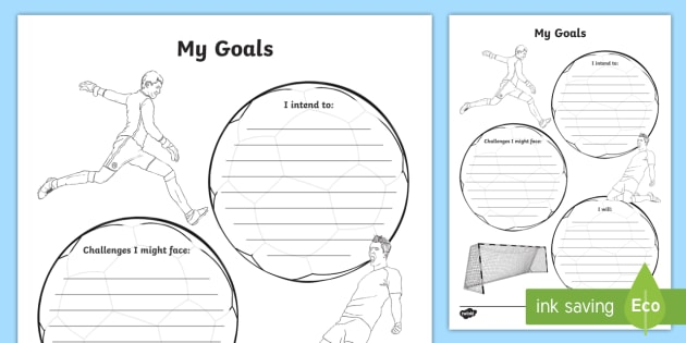 My Goals Worksheet   Worksheet