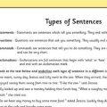 Worksheets For Types Of Sentences