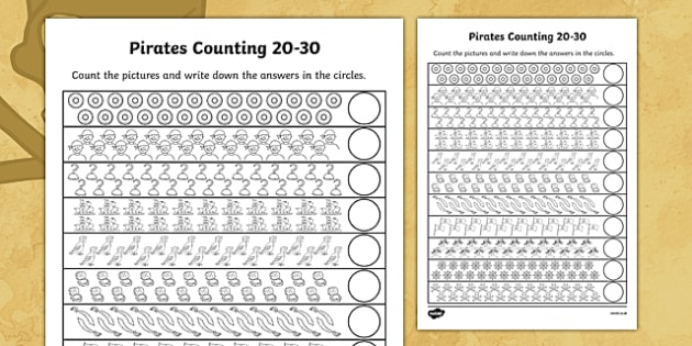 Pirates Counting 20