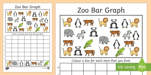 Zoo Bar Graph Activity Worksheet