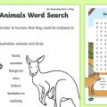 Australian Animals Worksheets