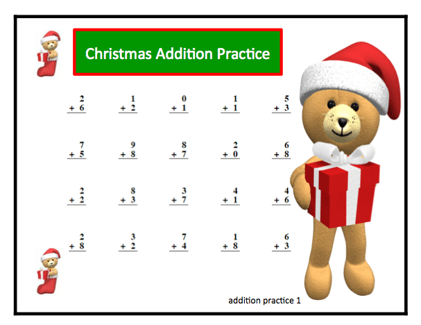 Number Names Worksheets   Christmas Math Worksheets For