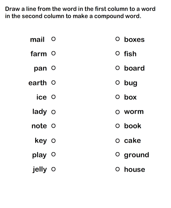 Compound Words Printable Worksheets For Practice, Grammar