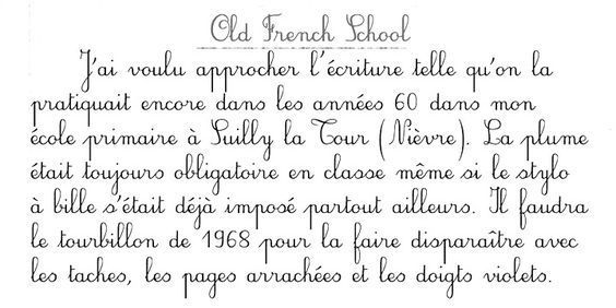 French Cursive Writing Worksheets