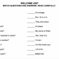 Parts Of The School Worksheets