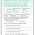 Worksheets For Grammar And Punctuation