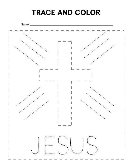 Tracing Bible Worksheet Preschool