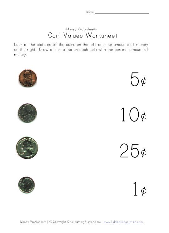 Matching Coin To Value (assessment)