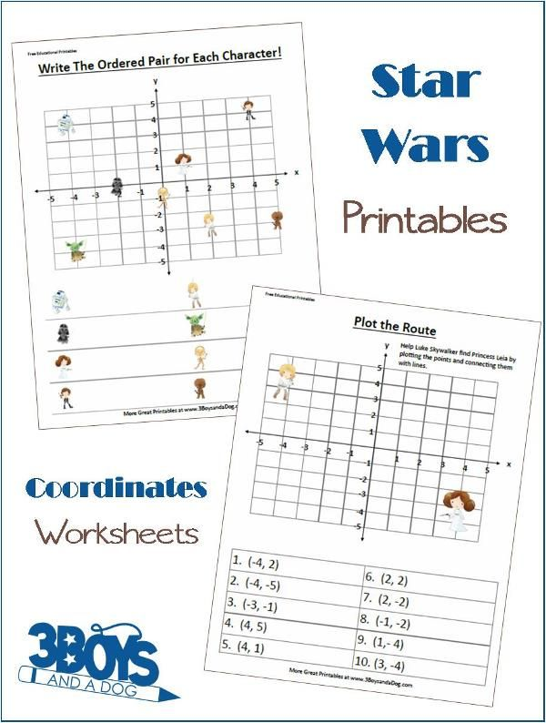 Star Wars Fun Coordinates Worksheets