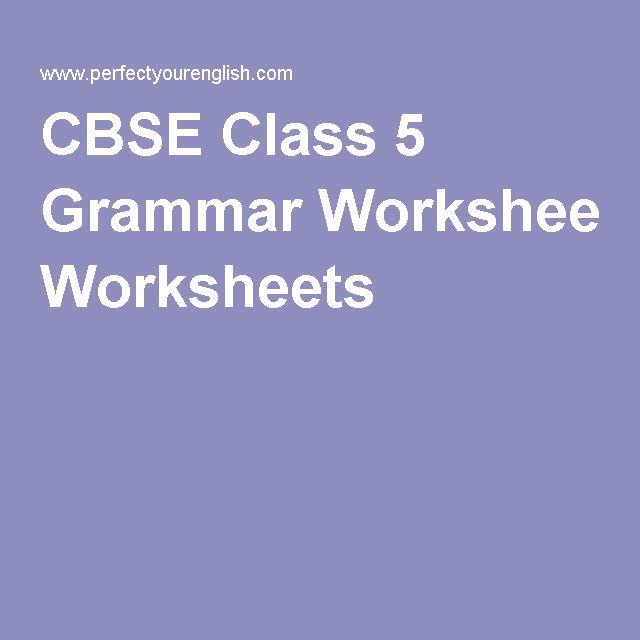 Cbse Class 5 Grammar Worksheets