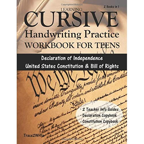 Learning Cursive  Handwriting Practice Workbook For Teens  With