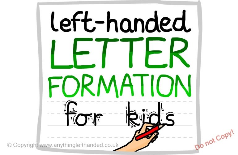 Left Handed Letter Formation Guide (download)