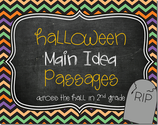 What's The Main Idea  Another Halloween Freebie!