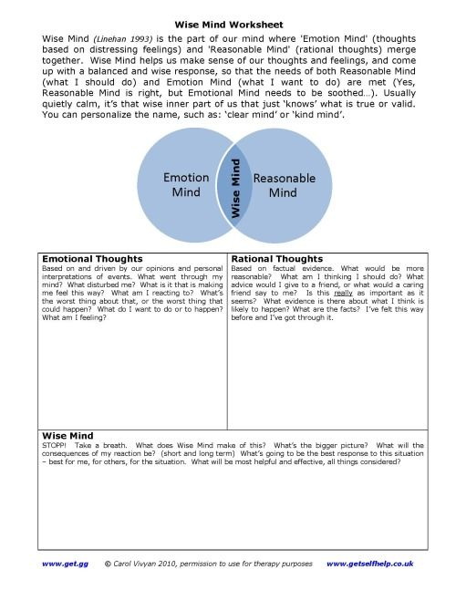 Dbt Therapy Worksheets Pdf