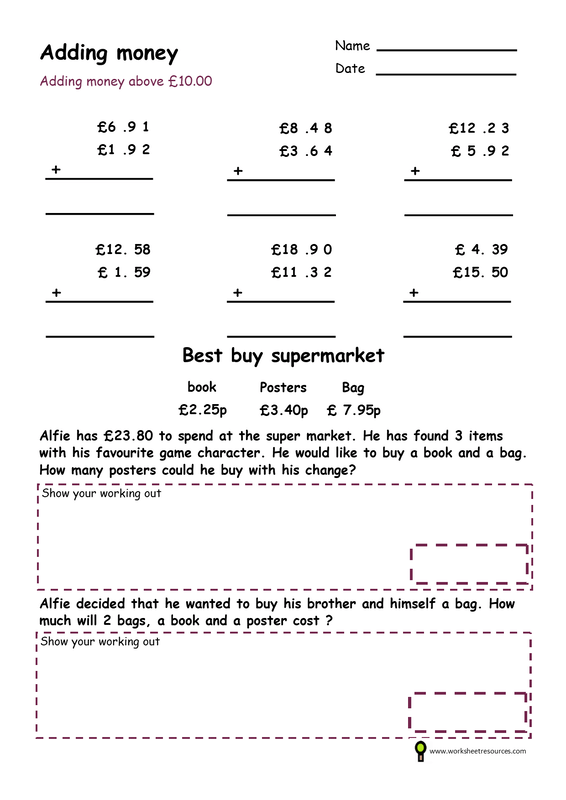 Money Worksheets Coins And Notes