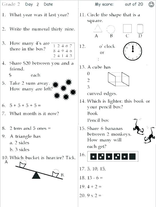 Printable Maths Worksheets Year 2 – Odmartlifestyle Com