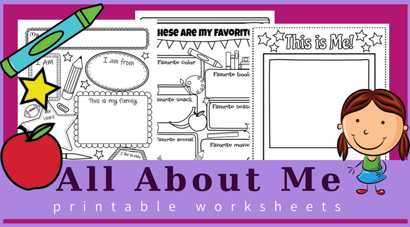 All About Me Worksheets Free Printable Perfect For Back To School
