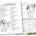 Animal Classification For Kids Worksheets