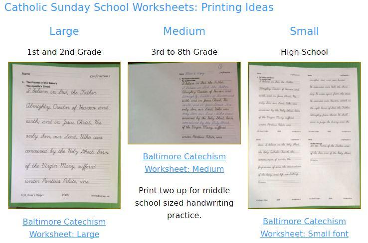 Catholic Cursive Writing Worksheets ❤+❤ Baltimore Catechism