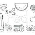 Color Red Worksheets Kindergarten