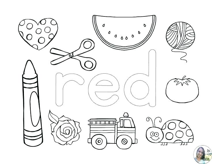 Color Red Worksheets Advertisement Printable Shapes And Colors