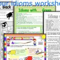 Color Idioms Worksheets
