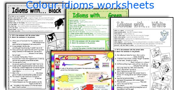 Colour Idioms Worksheets