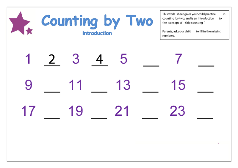 Counting By Worksheets
