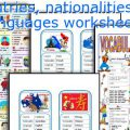 Esl Countries Nationalities And Languages Worksheets