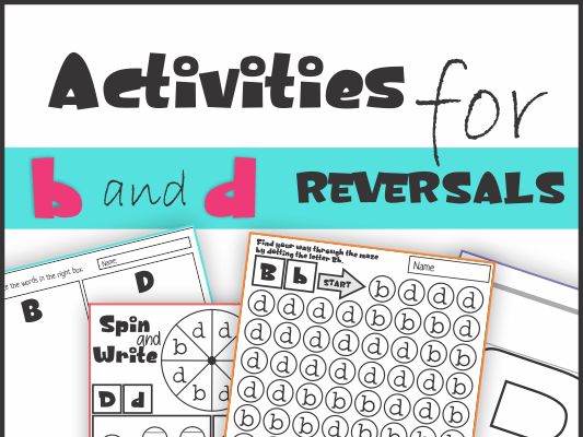 B And D Reversal Worksheets And Activities By Km