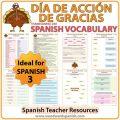 Dia De Accion De Gracias Worksheets