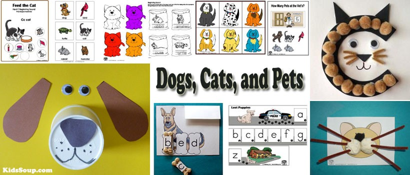 Cats, Dogs, And Pets Preschool Activities And Games