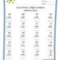 Addition Without Carrying Worksheets