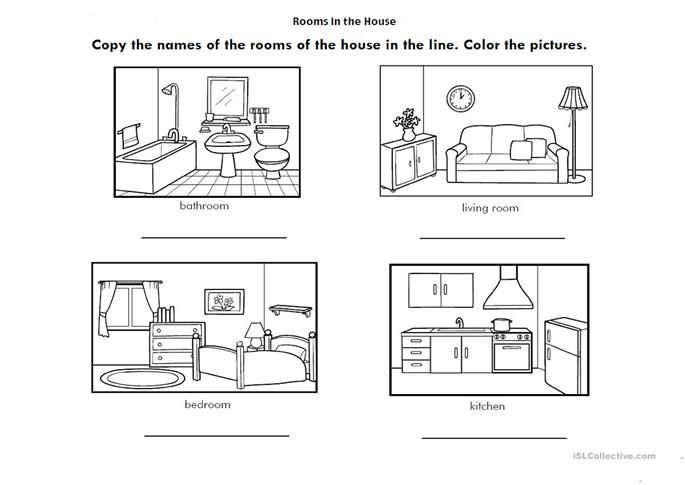 Rooms Of The House Worksheet