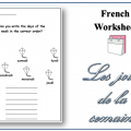 French Days Of The Week Worksheets