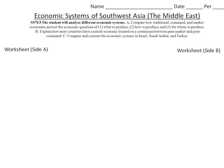 Comparing Economic Systems Worksheets – Katyphotoart Com