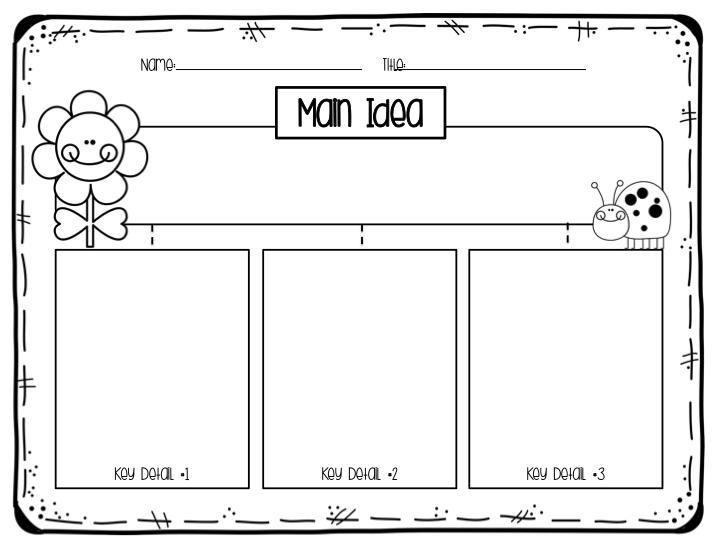First Grade Main Idea Key Details