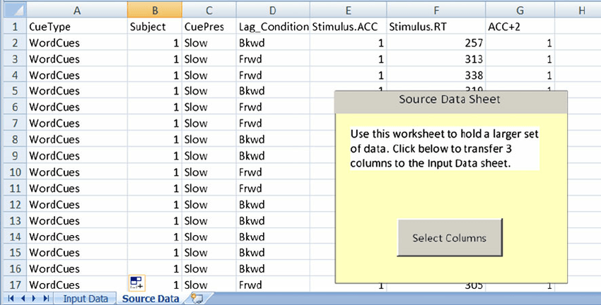 View Of The Source Data Worksheet With Unformatted Data Added  The