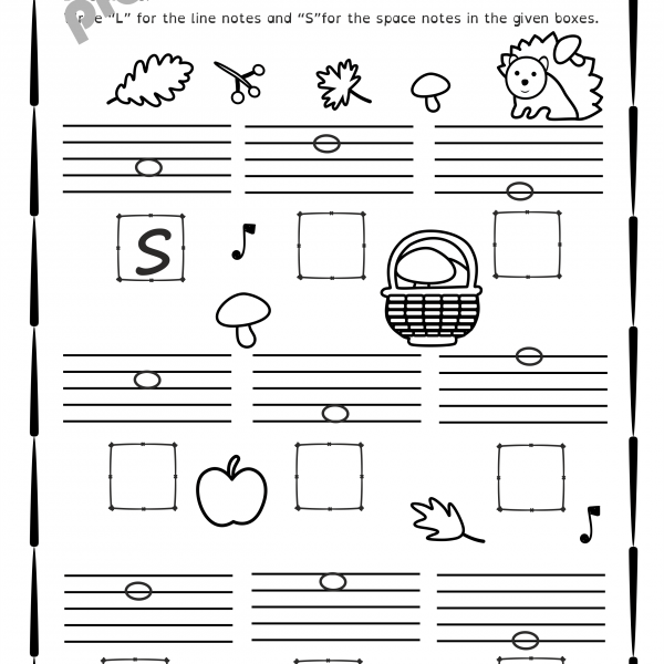 Fall Music Worksheets Pack {line