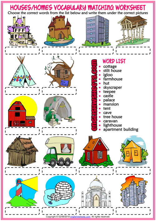 A Fun Esl Printable Matching Exercise Worksheets For Kids To Study