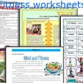 Fitness Worksheets For Elementary Students