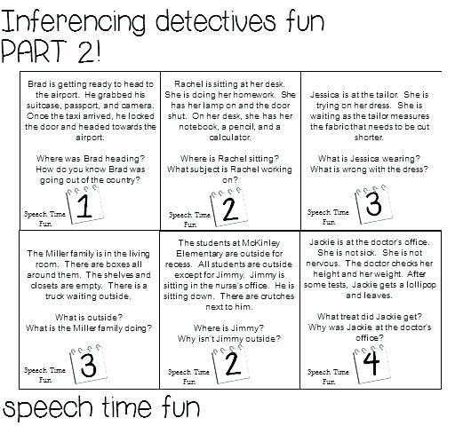 Free Inference Worksheets Grade 3 5 Inferences Printable For 3rd