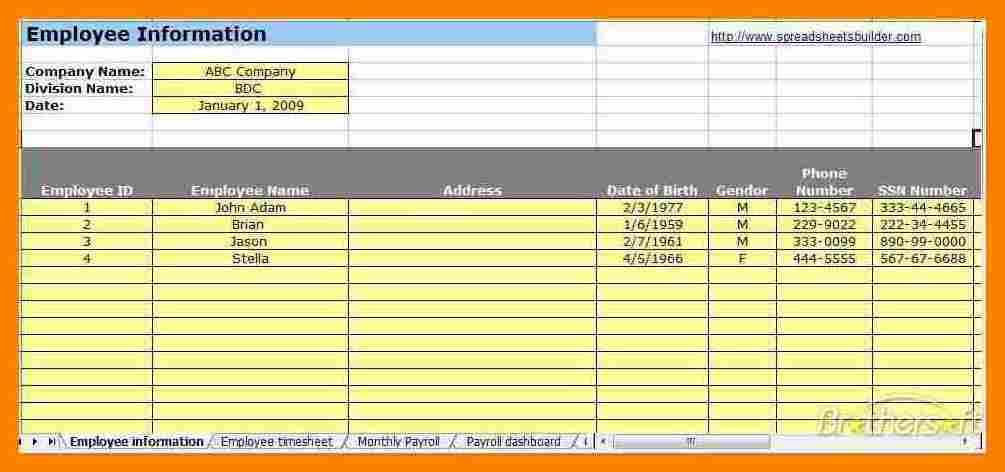 7+ Free Payroll Spreadsheet