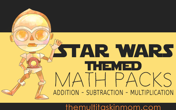 Star Wars Themed Math Packs